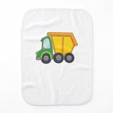 Beach Themed Cute Customizable Dump Truck Burp Cloth