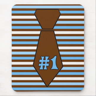 Cute Customizable Father's Day Tie Mouse Pad