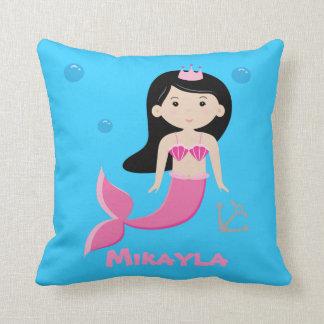 Cute Customizable Mermaid Pillow - Under The Sea
