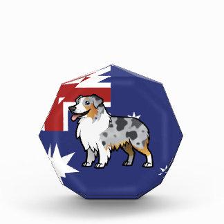 Cute Customizable Pet on Country Flag Acrylic Award