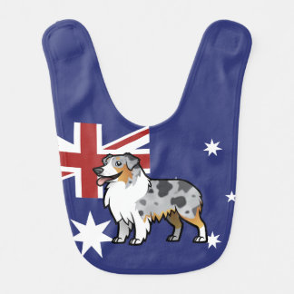 Cute Customizable Pet on Country Flag Baby Bib