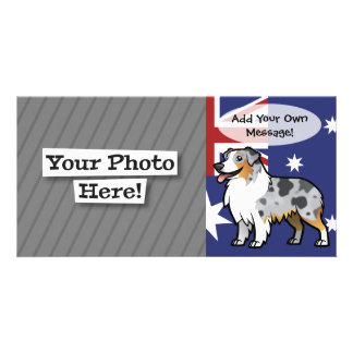 Cute Customizable Pet on Country Flag Card