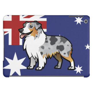 Cute Customizable Pet on Country Flag Case For iPad Air