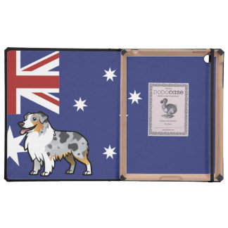 Cute Customizable Pet on Country Flag iPad Case