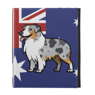 Cute Customizable Pet on Country Flag iPad Folio Cover