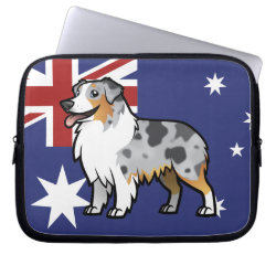 Neoprene Laptop Sleeve 10 inch with Australian Shepherd Phone Cases design