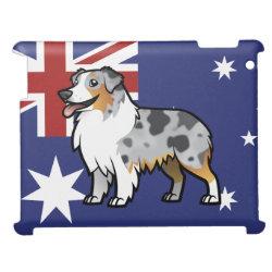 Case Savvy Glossy Finish iPad Case with Australian Shepherd Phone Cases design