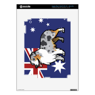 Cute Customizable Pet on Country Flag Decals For iPad 3