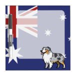 Cute Customizable Pet on Country Flag Dry Erase Board
