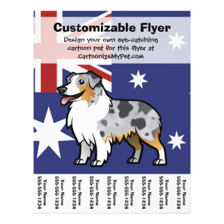 Cute Customizable Pet on Country Flag Flyer