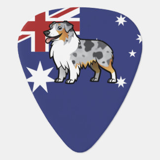 Cute Customizable Pet on Country Flag Guitar Pick
