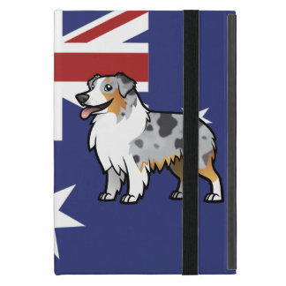 Cute Customizable Pet on Country Flag Cover For iPad Mini