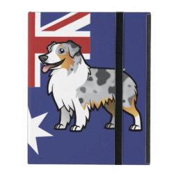 Powis iCase iPad Case with Kickstand with Australian Shepherd Phone Cases design