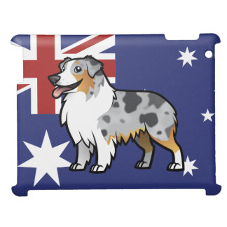 Cute Customizable Pet on Country Flag iPad Covers