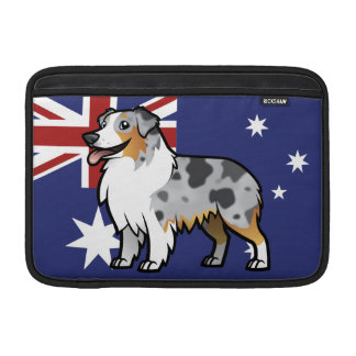 Cute Customizable Pet on Country Flag MacBook Sleeves