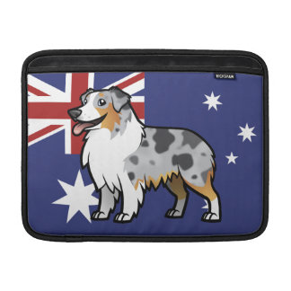 Cute Customizable Pet on Country Flag Sleeve For MacBook Air