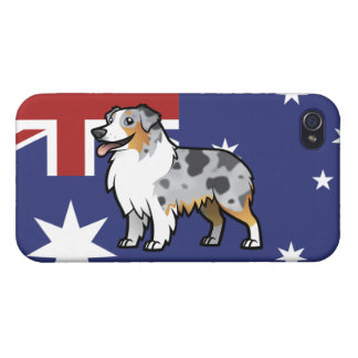 Cute Customizable Pet on Country Flag iPhone 4/4S Cover