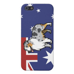 Case Savvy iPhone 5 Matte Finish Case with Australian Shepherd Phone Cases design