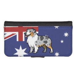 iPhone 5/5s Wallet Case with Australian Shepherd Phone Cases design