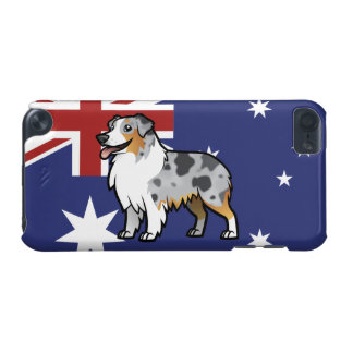 Cute Customizable Pet on Country Flag iPod Touch (5th Generation) Case
