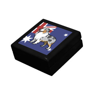 Cute Customizable Pet on Country Flag Jewelry Box