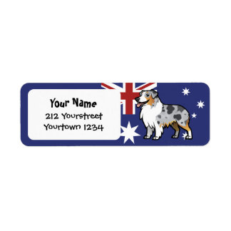 Cute Customizable Pet on Country Flag Label