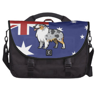 Cute Customizable Pet on Country Flag Computer Bag