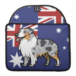 Macbook Pro 13' Flap Sleeve with Australian Shepherd Phone Cases design