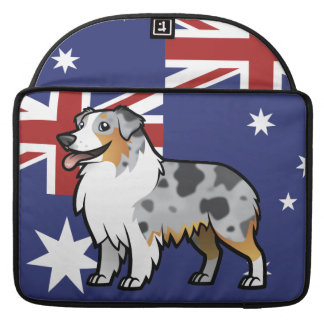 Cute Customizable Pet on Country Flag Sleeve For MacBook Pro