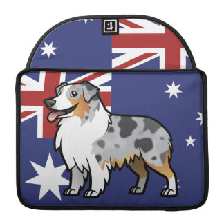 Cute Customizable Pet on Country Flag MacBook Pro Sleeve