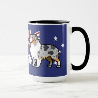 Cute Customizable Pet on Country Flag Mug