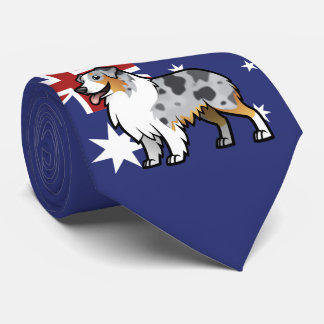 Cute Customizable Pet on Country Flag Neck Tie