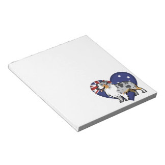 Cute Customizable Pet on Country Flag Note Pad