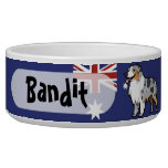 Cute Customizable Pet on Country Flag Pet Food Bowls