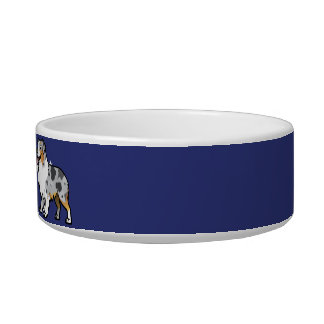 Cute Customizable Pet on Country Flag Cat Food Bowls