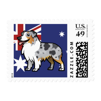 Cute Customizable Pet on Country Flag Postage