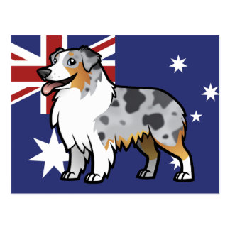 Cute Customizable Pet on Country Flag Postcard