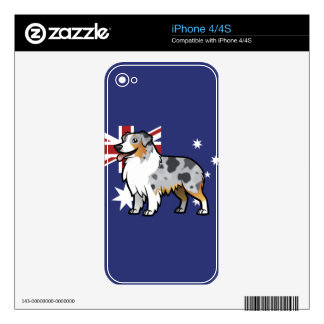 Cute Customizable Pet on Country Flag Skins For The iPhone 4