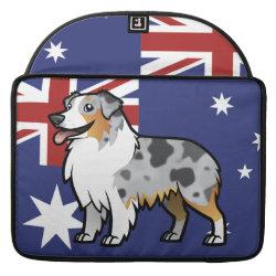 Macbook Pro 15' Flap Sleeve with Australian Shepherd Phone Cases design