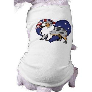 Cute Customizable Pet on Country Flag T-Shirt