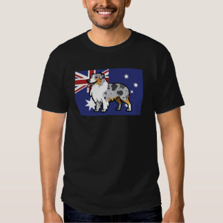 Cute Customizable Pet on Country Flag T Shirt