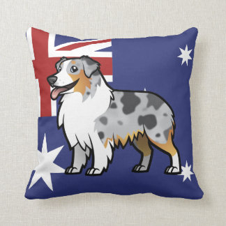 Cute Customizable Pet on Country Flag Throw Pillow