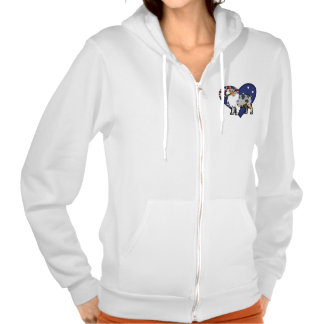 Cute Customizable Pet on Country Flag Hoodie