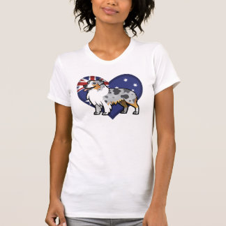 Cute Customizable Pet on Country Flag Tee Shirts