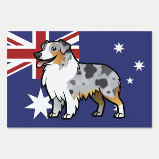Cute Customizable Pet on Country Flag Sign