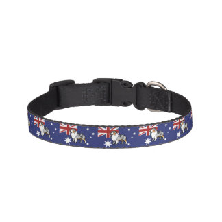 Cute Customizable Pet on Country Flag Dog Collars