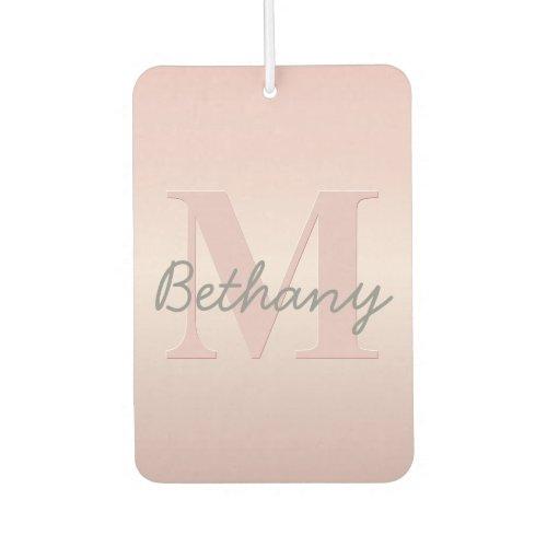 Cute Customizable Pink Monogram  Your Name Script Air Freshener
