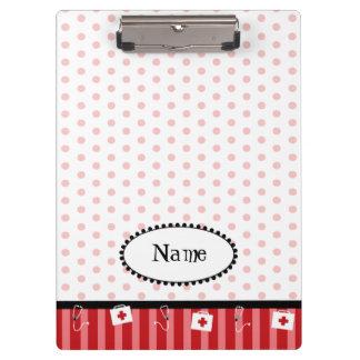 Cute, customizable, red, medical clipboard