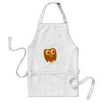 Cute Customizable Sayings Owl Adult Apron