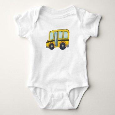 Toddler & Baby themed Cute Customizable School Bus Baby Bodysuit